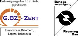 Humbert Zertifikate Entsorgungsfachbetrieb Recycling Bau
