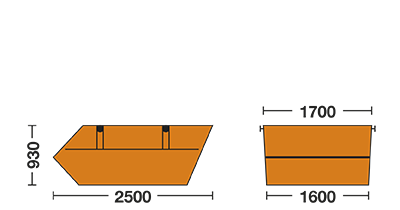 Humbert Containerdienst 3 cbm-Container