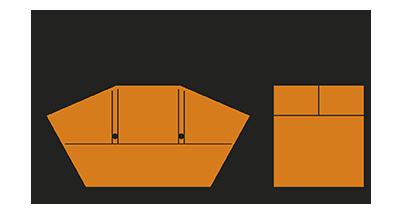 Humbert Containerdienst 7 cbm-Container mit Deckel