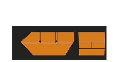 Humbert Containerdienst 7 cbm-Container mit Ladeklappe